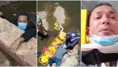 Photo of #Vídeo: Jornalista cai de ponte ao fazer reportagem ao vivo e passa por cirurgia urgente no Mato Grosso