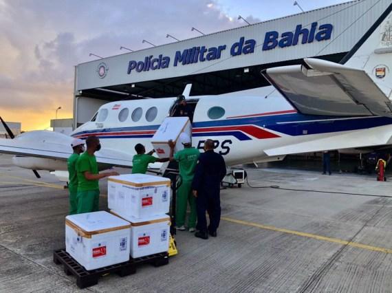 Esta é a sexta remessa de vacinas que a Bahia recebe | FOTO: Divulgação |