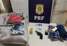 Photo of #Chapada: PRF prende homem que transportava arma e comprimidos de anfetamina em trecho da BR-242 na região de Seabra