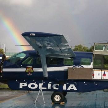 Cinco aviões e quatro helicópteros foram empregados | FOTO: Alberto Maraux |