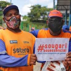 Primeiro dia de vacinação para trabalhadores de limpeza urbana em Salvador - FOTO Divulgação 6