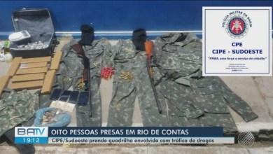 Photo of #Chapada: Oito suspeitos de tráfico de drogas são presos durante ação policial em Rio de Contas