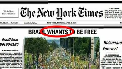 Photo of #Mundo: Bolsonaristas inventam fake news de que manifestação em São Paulo saiu no New York Times e cometem erro bizarro de inglês