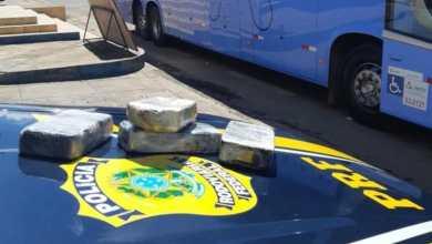 Photo of #Chapada: Jovem de 19 anos é preso pela PRF transportando pasta base de cocaína dentro de bagagem na região de Seabra