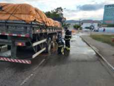 O princípio de incêndio aconteceu na entrada da cidade | FOTO: Divulgação |
