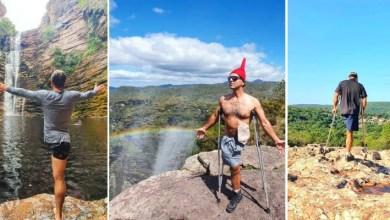 """Photo of #Chapada: Geógrafo conhecido por 'Saci Trilheiro' mostra superação durante trilhas na região; """"Referência para outras pessoas com limitações"""""""