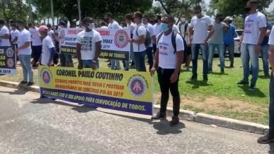 Photo of #Bahia: Aprovados no concurso da PM fazem novo protesto em Salvador e reivindicam convocação