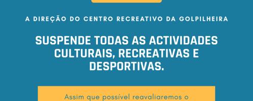Covid-19: Centro Recreativo da Golpilheira suspende todas as actividades