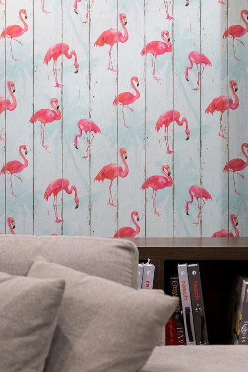papel-de-parede-flamingo