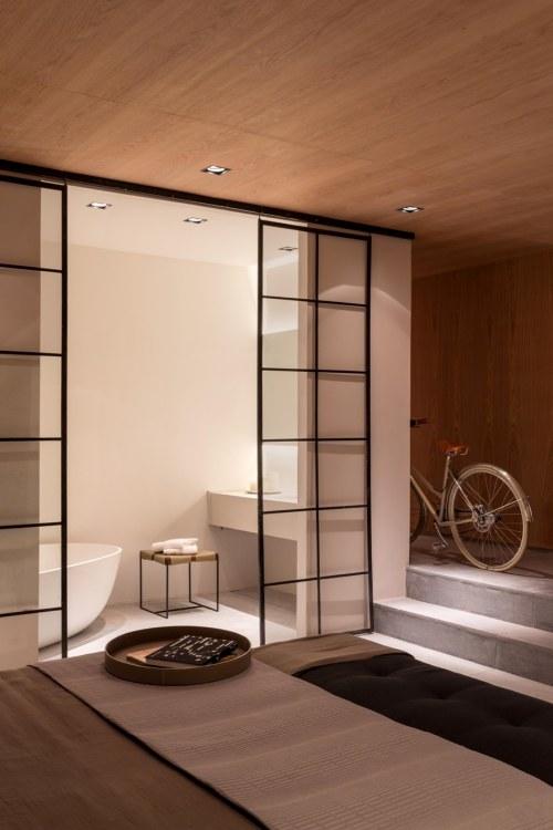 decoracao-banheiro-quarto-suite-madeira-minimalista