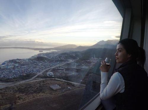 vista janela quarto arakur ushuaia patagônia argentina hotel