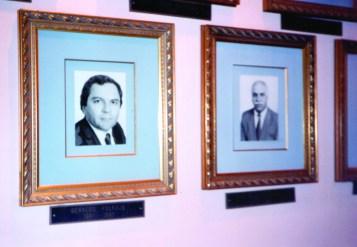 Mural de ex-presidentes da Câmara Municipal de Araraquara