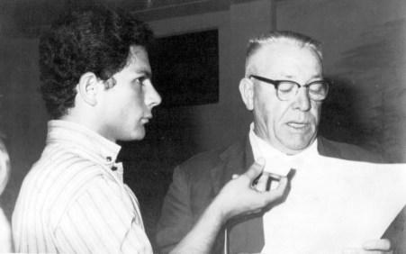 Com Mário Barbugli, em 1968