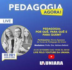 Pedagogia presencial da Uniara promove minicurso online e lives em função da Feira dos Cursos da universidade (2)