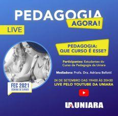 Pedagogia presencial da Uniara promove minicurso online e lives em função da Feira dos Cursos da universidade (3)
