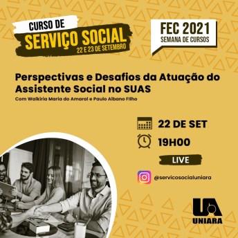 Serviço Social da Uniara promove encontros online sobre perspectivas profissionais na atuação do assistente social (1)