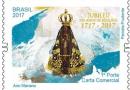 Selos comemorativos dos 300 anos do encontro da imagem de Nossa Senhora Aparecida chegam às agências dos Correios no Paraná