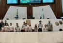 Vereadores mirins visitam a Assembléia Legislativa