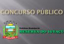 Concurso Público de Reserva do Iguaçu foi homologado