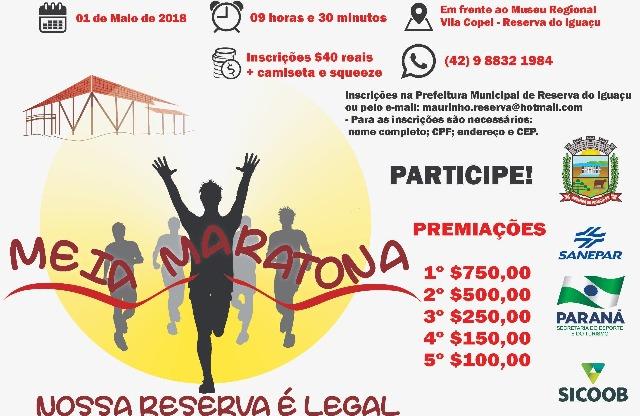 RESERVA DO IGUAÇU: Participe da Meia Maratona
