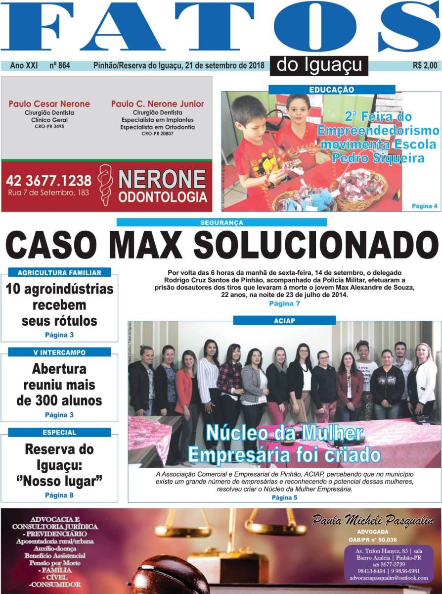 Capa e Editorial da Edição nº: 864