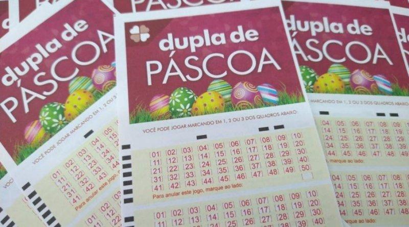 Cartões de aposta da dupla de páscoa