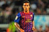Naturalizado espanhol, Thiago Alcântara é hoje o dono da camisa 11, que deverá ser entregue para Neymar caso o ex-santista queira permanecer com o número que é identificado. Filho do ex-jogador Mazinho, Thiago atuou pelas categorias de base do Barcelona desde os 14 anos e foi promovido ao time profissional em 2009. Desde então, participou em diversos títulos: Campeonato Espanhol (2008/09, 2009/10, 2010/11 e 2012/13), Supercopa da Espanha (2010/2011), Copa do Rei (2011/12), UEFA Champions League (2010/11), Supercopa da UEFA (2011) e Mundial de Clubes (2011) (Foto: AFP)