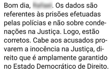 """""""Cabe aos acusados provarem inocência na Justiça"""""""