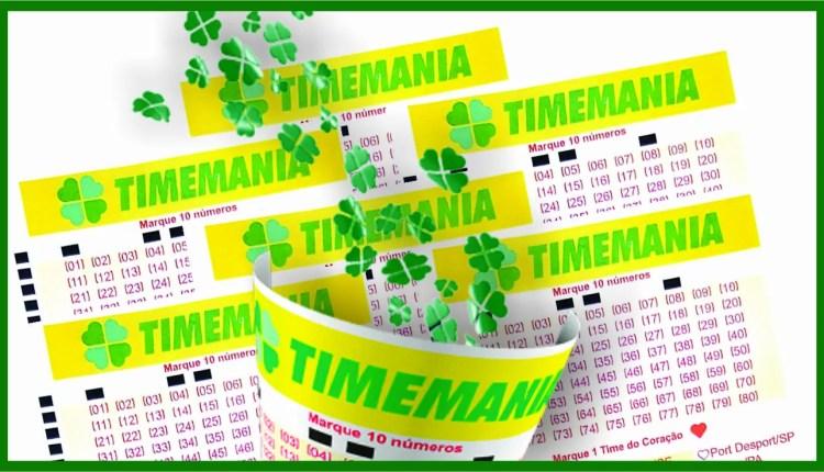 Resultado da Timemania / Arte: Ueslei Mendes de Souza