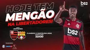 Saiba como assistir partida ao vivo do Flamengo x Barcelona. Créditos: Facebook