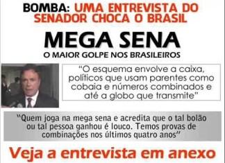 Senador Álvaro Dias : Fraude na Mega Sena da virada ? assista o vídeo