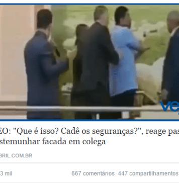 Assista o momento que Valdemiro Santiago levou a facada no pescoço