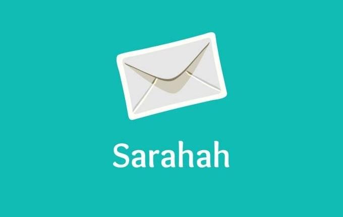 (Sarahah/Reprodução)