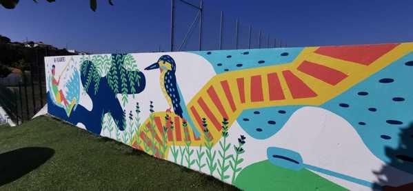 Vila de Rei: Susana Lousa cria mural na Piscina Descoberta