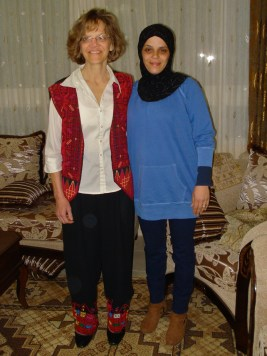 Ghada gave Joanne an outfit that she had made. She wanted Joanne to wear it at the CATCP conference.