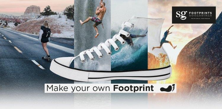 Footprint Canvas Schuhe