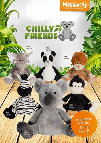 Werbeartikel Plüschtiere Chilly Friends