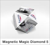 Haptische Werbehilfe Magnetic Magic Diamond 5 Faltwürfel