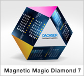 Haptische Werbehilfe Faltwerk Magnetic Magic Diamond 7 Faltwürfel