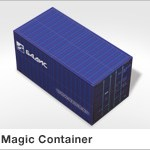 Haptische Werbehilfe Faltwerk Magic Container