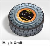 Haptische Werbehilfe Faltwerk Orbit 8