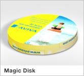 Haptische Werbehilfe Faltwerk Magic Disk