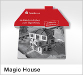 Haptische Werbehilfe Faltwerk Magic House XL