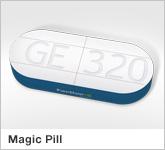 Haptische Werbehilfe Faltwerk Magic Pill