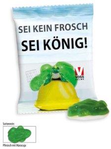 Haribo Frosch mit Werbeaufdruck