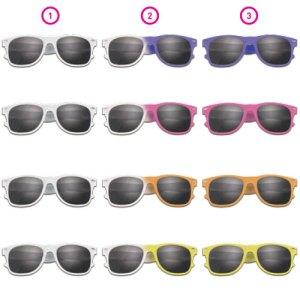 Werbeartikel Sonnenbrille mit Farbwechsel