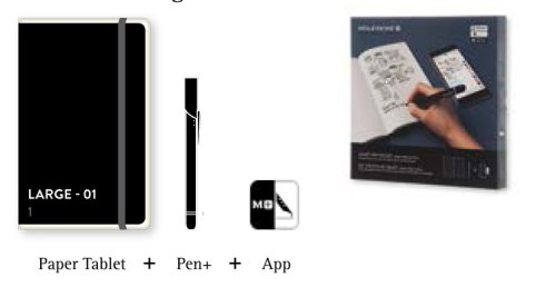Moleskine Notizbücher Smart Writing Set mit Paper-Tablet