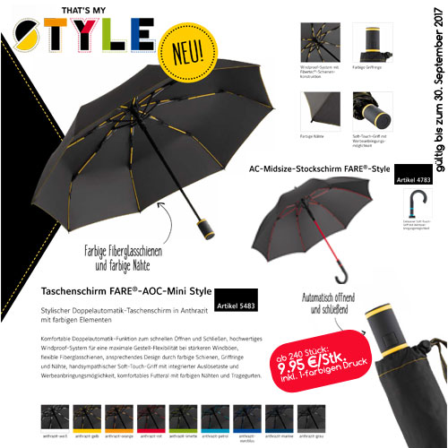 Werbeartikel-Regenschirm