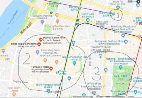 Eight hours in Taipei map