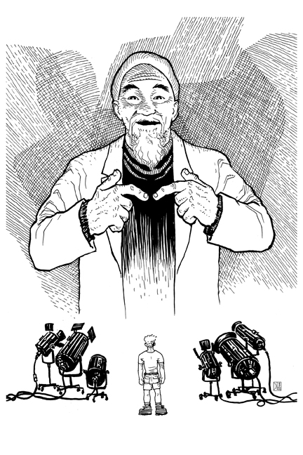 The Famous Doctor Ho. Illustration by David Lee Ingersoll